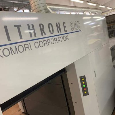 komori lithrone s40 lak offset press machine